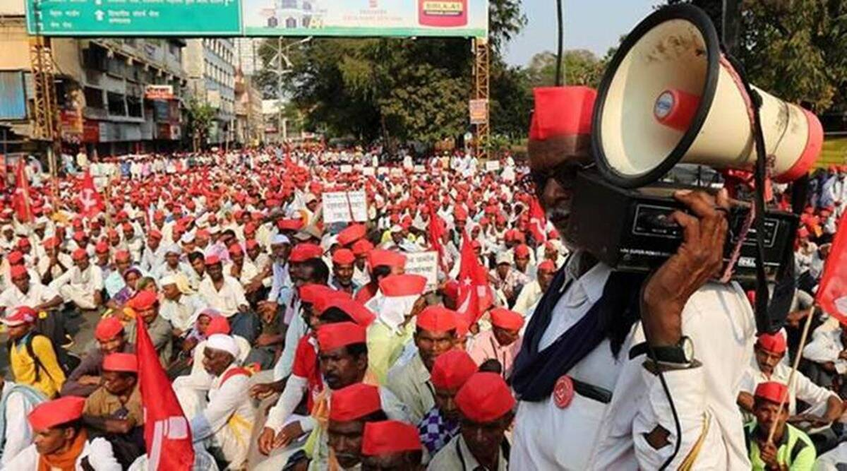 farm bills, All India Kisan Sabha's Maharashtra, AIKS, All India Kisan Sabha's Maharashtra march to delhi, farmers protest, indian express news