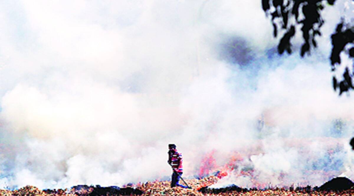 crop burning season, delhi air quality, delhi air pollution, delhi air, indian express news
