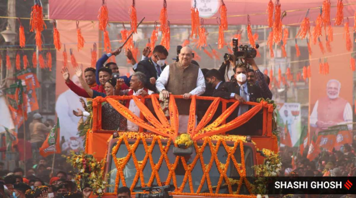 amit shah in bengal, amit shah west bengal visit, amit shah bengal visit live, amit shah bengal news, amit shah bengal visit schedule, amit shah two-day west bengal visit, amit shah west bengal tour, mission bengal, home minister amit shah, amit shah west bengal trip, amit shah bengal temple visit, amit shah bengal roadshows