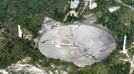 Puerto Rico's Arecibo Observatory, arecibo telescope, arecibo james bond movie, arecibo observatory collapses