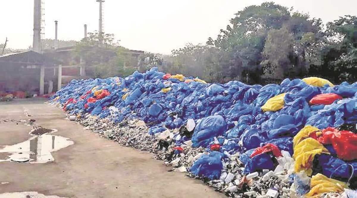Covid biomedical waste, hospitals protest, Pune news, Maharashtra news, indian express news