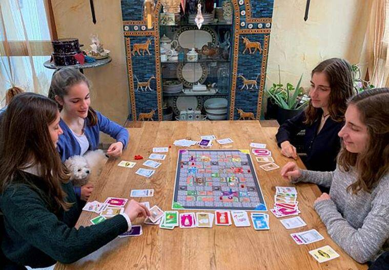 german, germany sisters, Coronavirus-themed board game German sisters, coronavirus boardgame, coronavirus games, viral board game, trending, indian express, indian express news