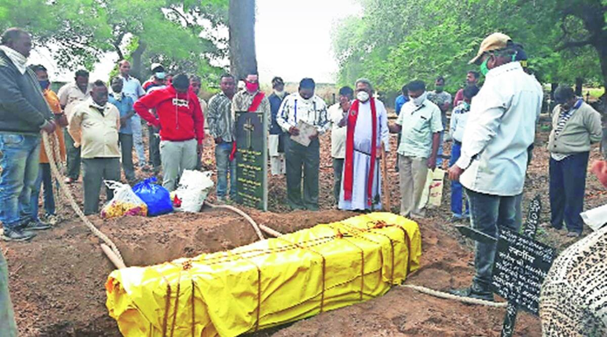 Malegaon man , Manmade man mother burial, mumbai woman covid, manmad man mother covid, manmad man exhumes mothers body, covid burials in mumbai, indian express news