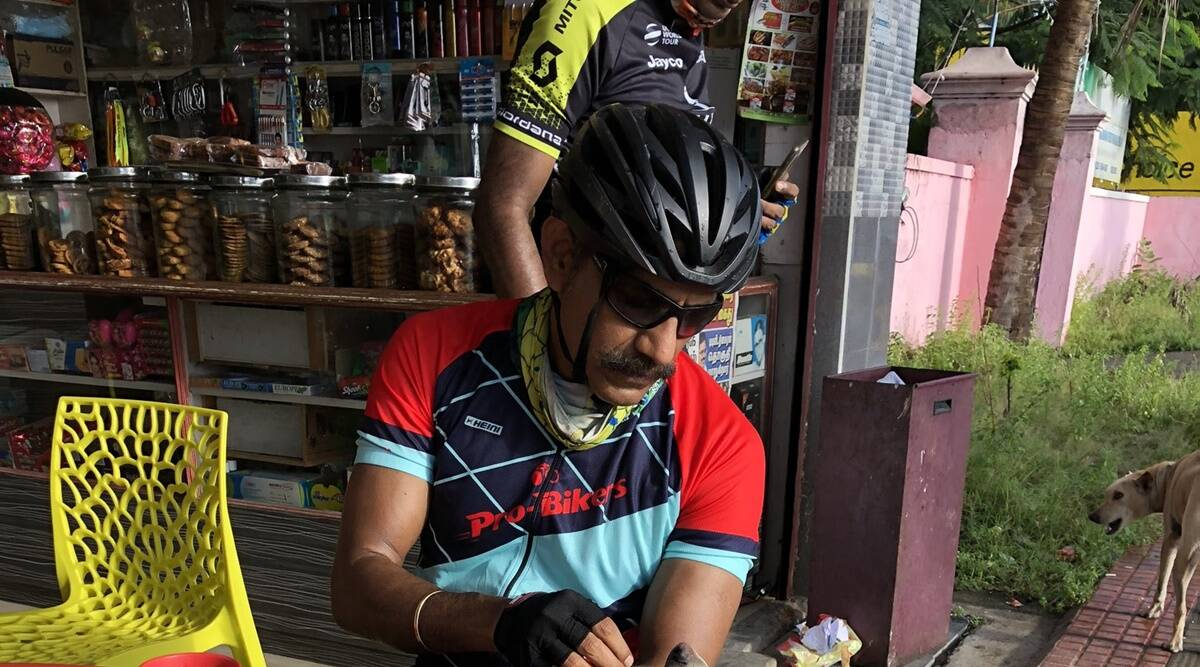 c sylendra babu, cycling, fitness activity, indianexpress, indianexpress.com, railway officer cycling, fitness, fitness news,