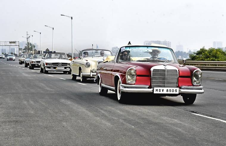 Mercedes-Benz Classic Car rally: More than 40 vintage models impress car lovers in 'rally for resilience'
