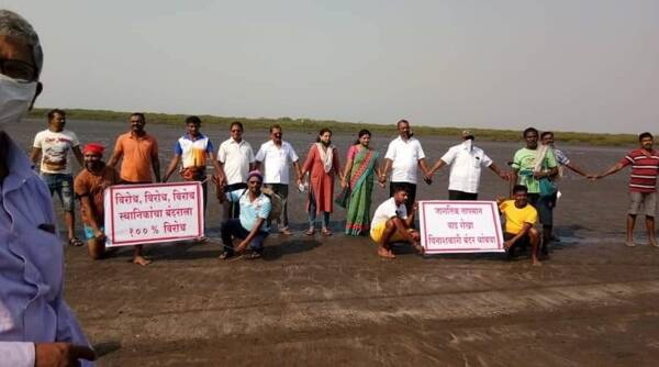 Dahanu protests, Dahanu protest against JNPT, Jawaharlal Nehru Port Trust, Indian Express
