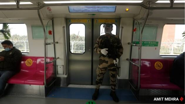 delhi driverless metro, first automated train in india, indian express, india news