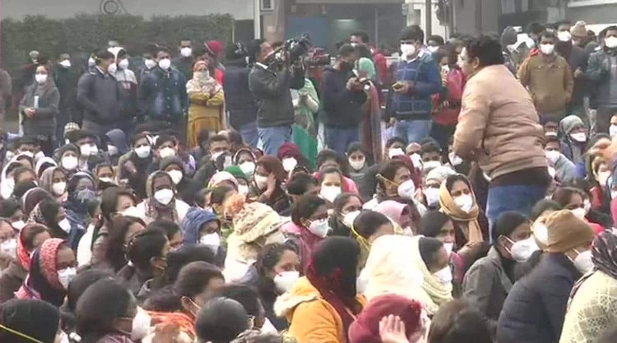 Delhi nurse strike