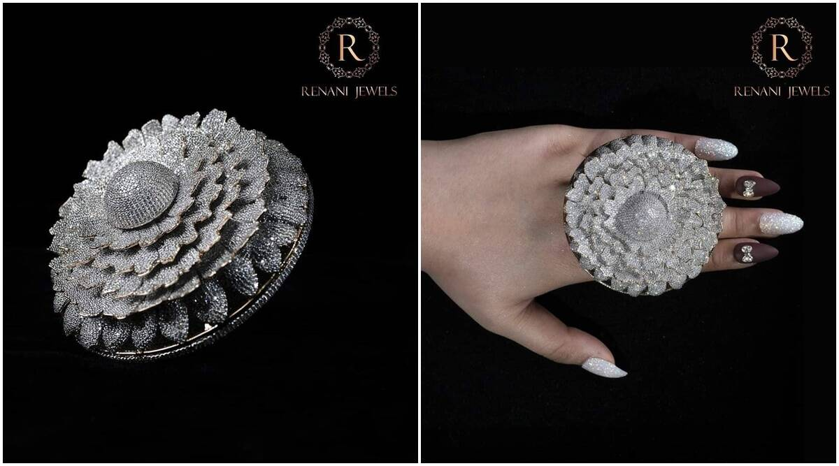 Guinness World Records, Guinness Book of World Records 2020, most diamonds in a ring, indianexpress.com, indianexpress, renani jewellers, renani jewellers guinness, most diamonds in a ring,