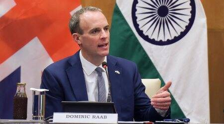 dominic raab on farmers protests, jaishankar, britain, dominic raab, india uk talks, brexit, uk brexit talks, india britain, boris johnson, indian express news