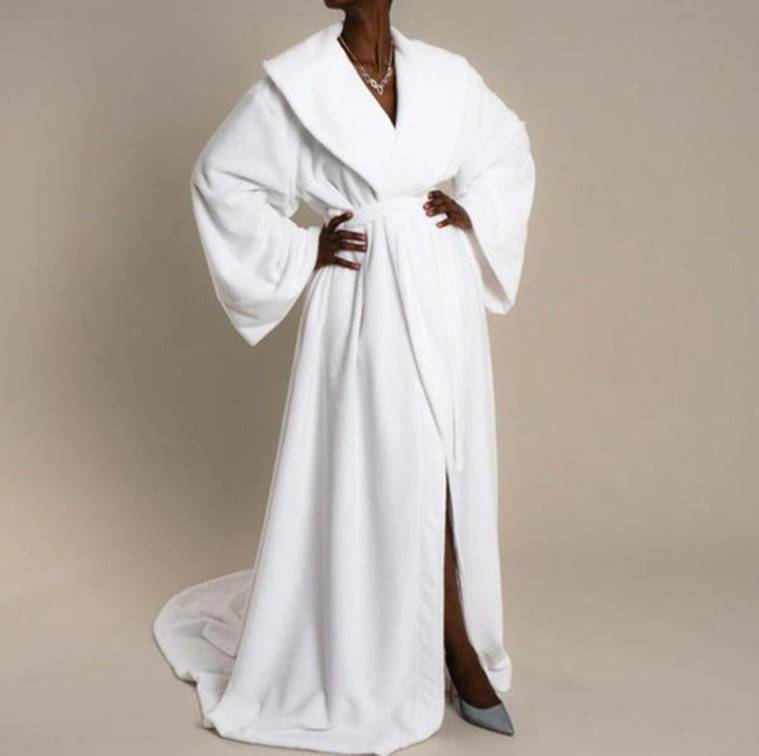 towel gown, bizarre fashion