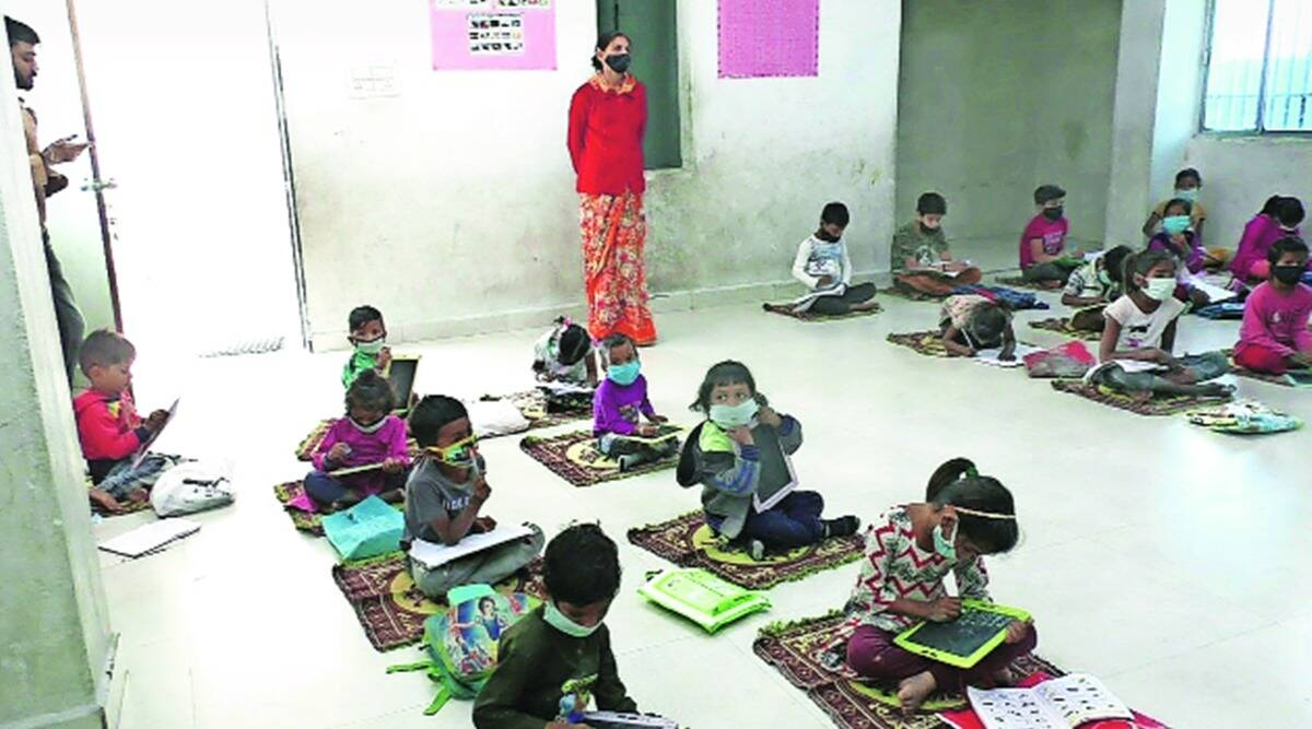 covid-19 in Gujarat, Morbi factory daycare centre, Child day care, gujarat news, indian express news