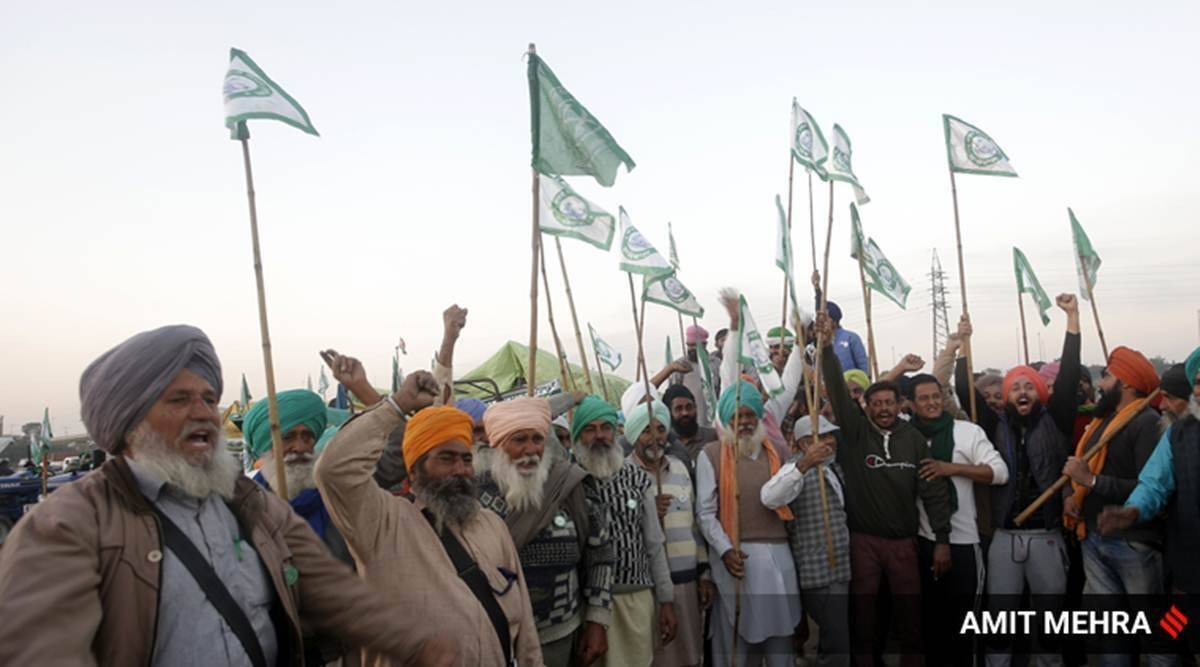 farm bills, farm bills 2020, farmer protest, haryana farmers, bjp, jjp, farmers cases, indian express news