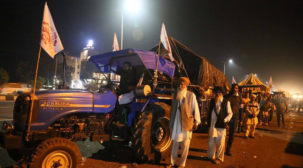 Farmers protest, more tractor-trolleys from Punjab to delhi, singhu border protests, farmers protests latest news, farmers protests latest updates, indian express