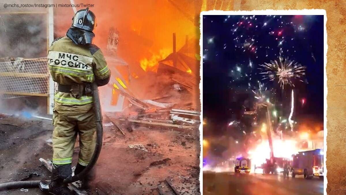 Russia, fireworks warehouse, fire at fireworks factory, Ministry of Emergency Situations, warehouse fire in Russia, fireworks explosion, fireworks explosion viral video, Trending news, Indian Express news.