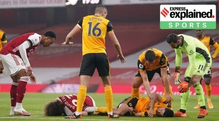 David Luiz and Raul Jimenez, Raul Jimenez skull fracture, David Luiz injury, Raul Jimenez injury update, Raul Jimenez head injury, Raul Jimenez injury video, Raul Jimenez recovery