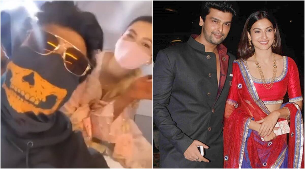 kushal tandon gauahar khan flight video