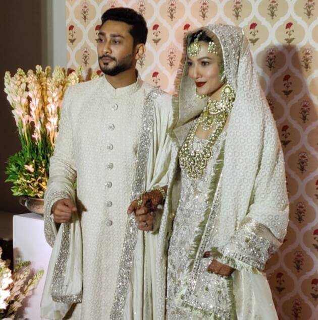 gauahar khan zaid darbar wedding dress