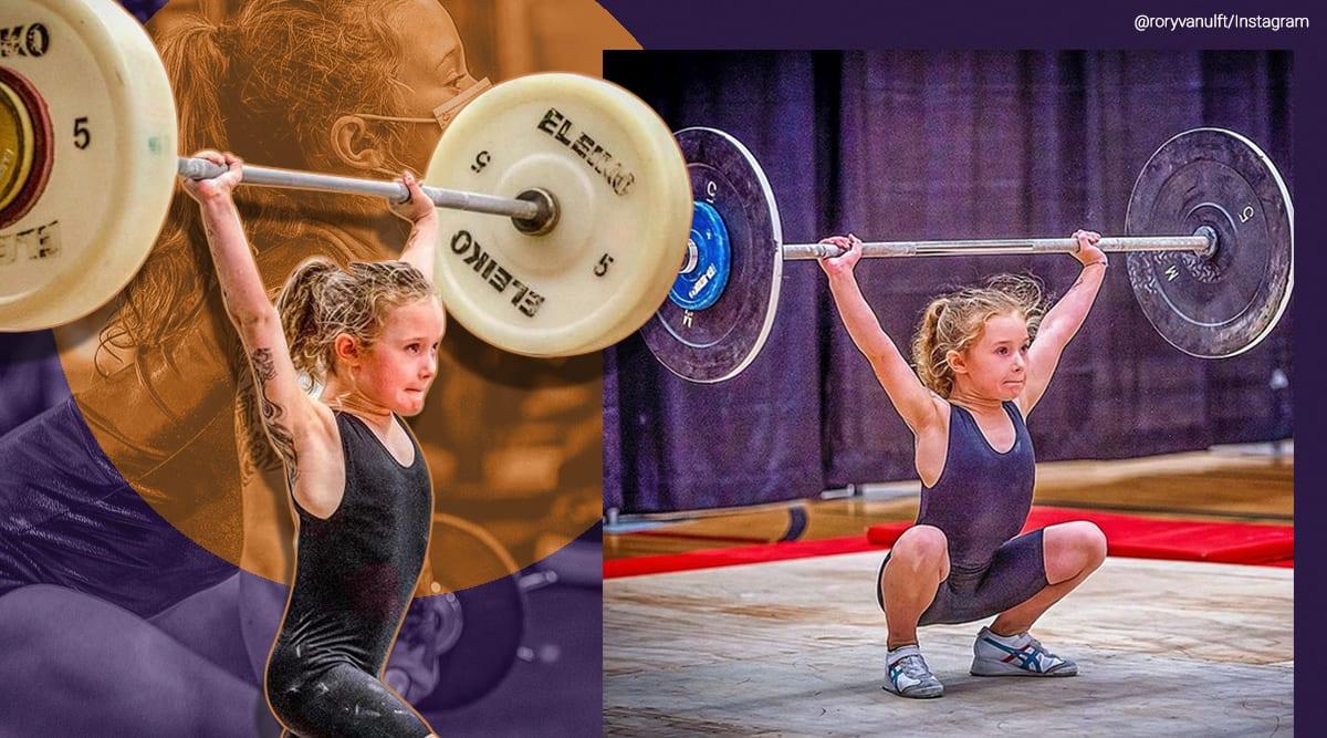 canada, Rory van Ulft, Schoolgirl Rory van Ulft Ottowa deadlift 80kg squat 61kg, Rory van Ulft viral video, Rory van Ulft trending, weightlifting, indian express, indian express news
