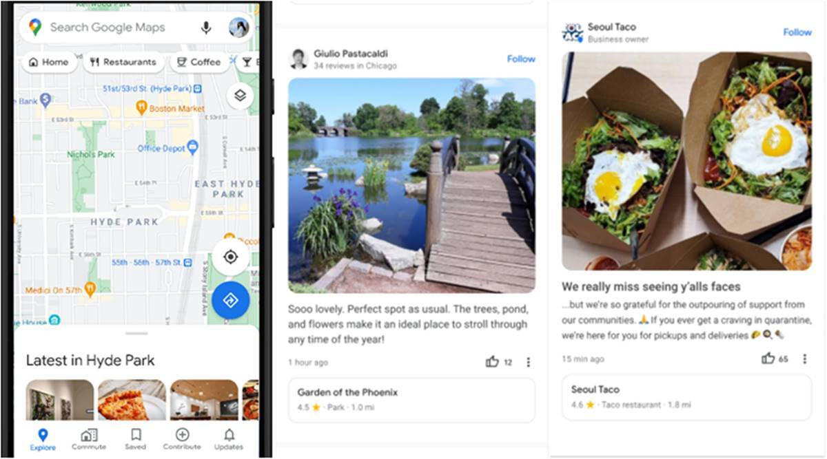 Google maps restaurants, google maps new feature, google maps customised recommendations