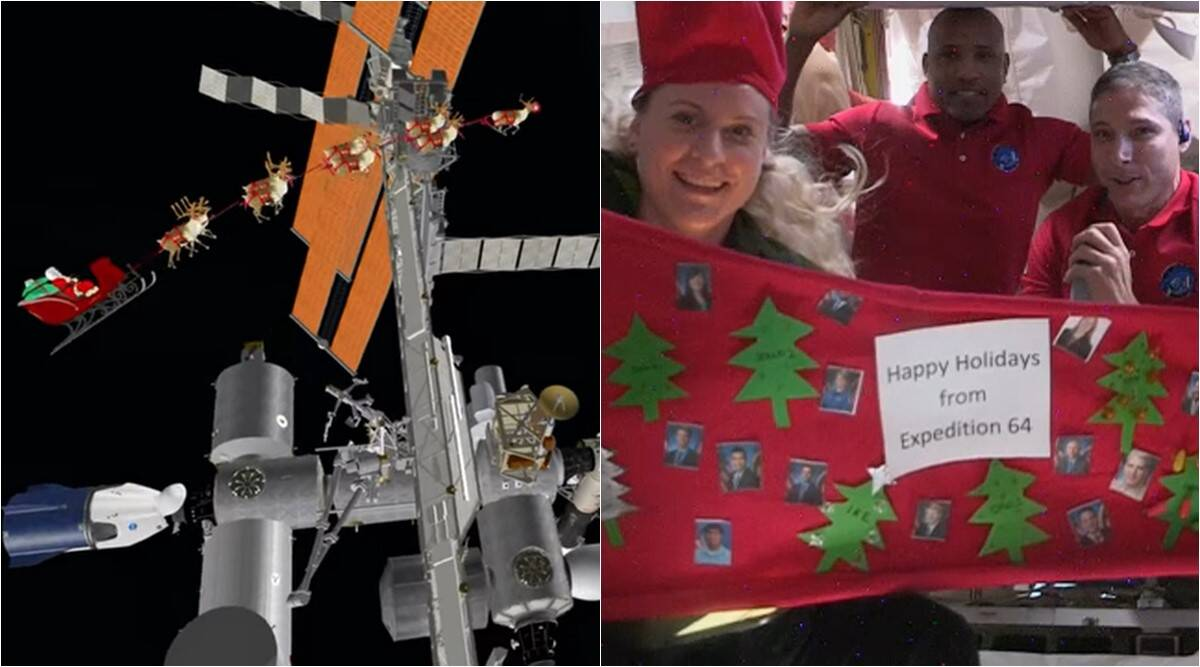 Watch: When ISS astronauts celebrate Christmas in space and Santa Claus visits them