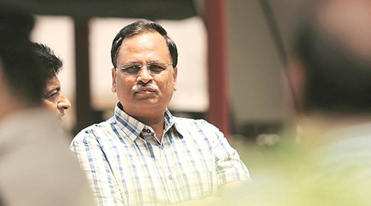 Water Minister, Satyendar Jain, delhi covid, delhi covid case, lok nayak hospital delhi, indian express news