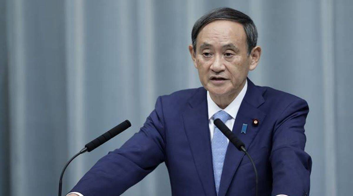 japan pm yoshihide suga, japan pm year-end party criticized, japan covid-19 news