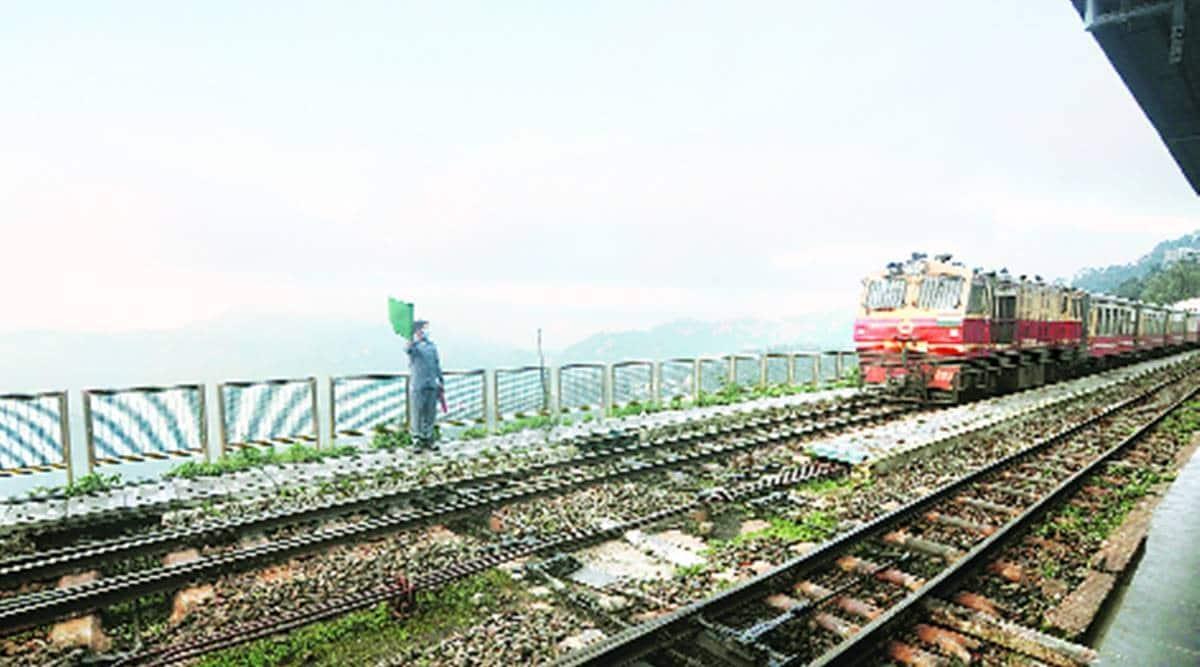 Kalka-Shimla toy train, Kalka-Shimla toy train resumes, covid-19, Kalka Shatabdi Express resumption, indian express news