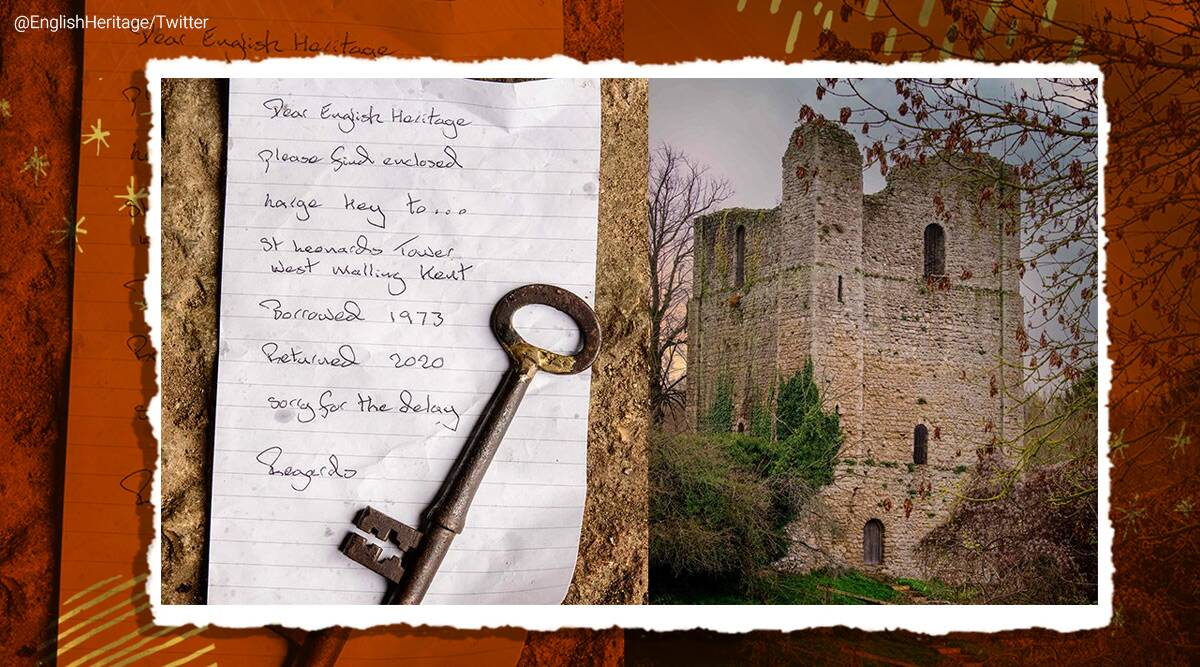 Kent, England, St Leonard's Tower, missing key returned after 50 years, Bishop of Rochester, trending, viral stories, indian express, indian express news