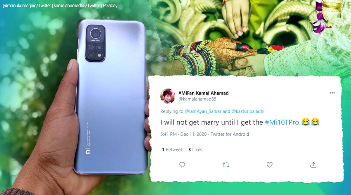 xiaomi, xiaomi gifts man phone, man refuse to get married with phone, xiaomi 10 tpro, viral news, odd news, funny news, indian express