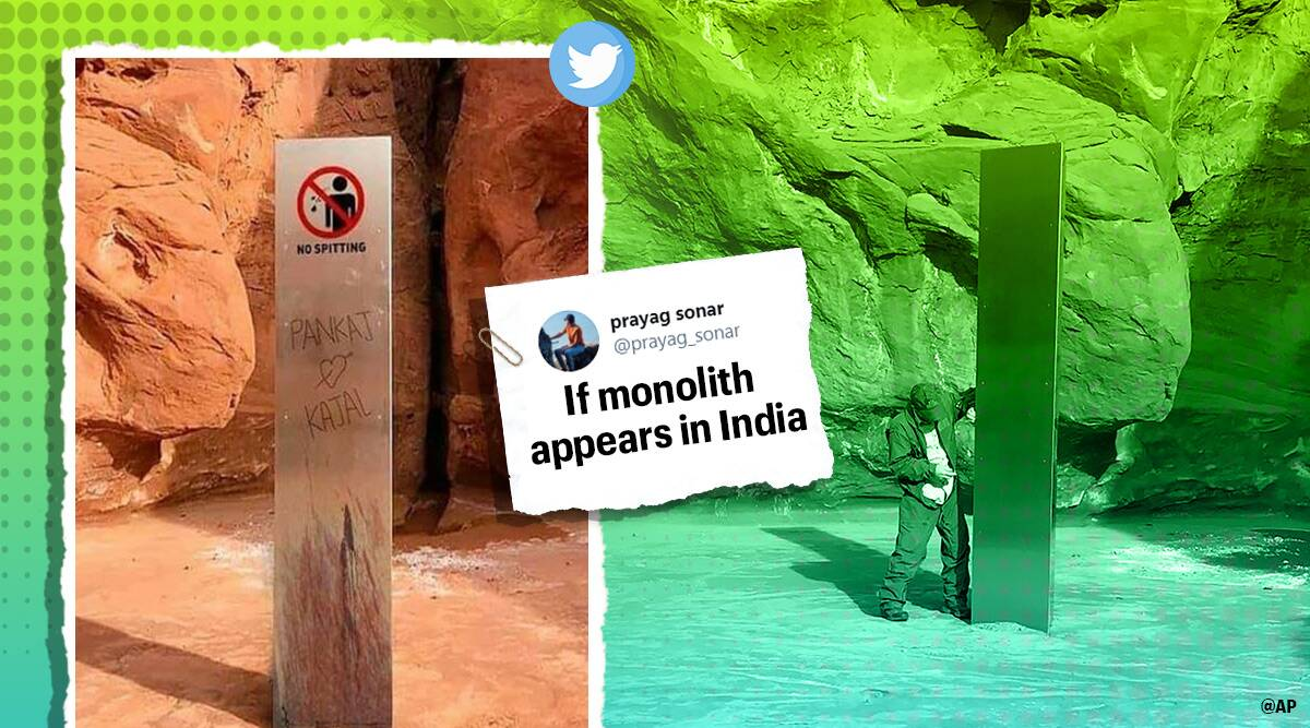 monolith, monoliths mystery, monolith in india, monolith memes, if monolith found in india, india monolith memes, viral news, funny news, indian express