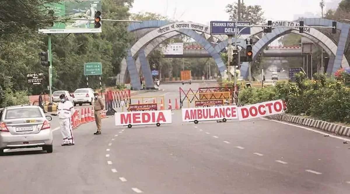 Noida border closed, Delhi protest, Farmers protest, Farm law, Delhi news, Indian express news