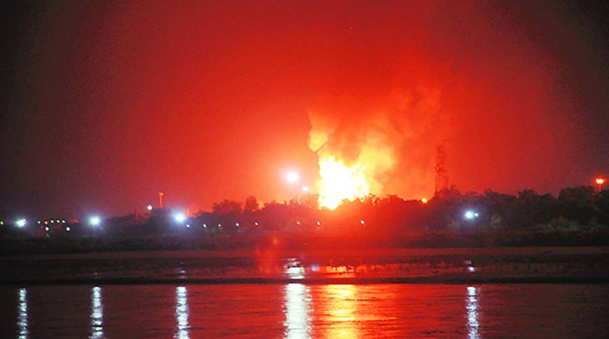Gujarat Pollution Control Board, Oil and Natural Gas plant hazira, gpcb notice to ongc plant in hazira, gujarat news, indian express news