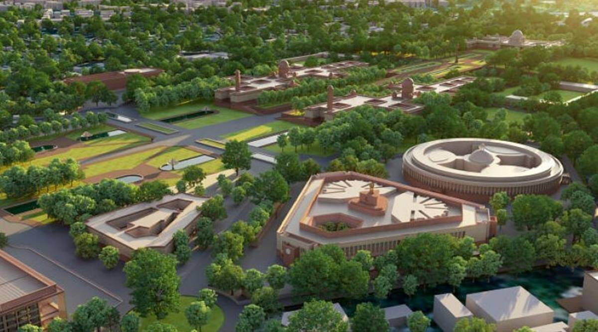 New Parliament building, MPs' chambers shifted, on-ground survey, Parliament foundation stone, Delhi news, Indian express news