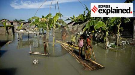 Brahmaputra floods warning, tree rings, Northeast region, Bay of Bengal rainfall patterns, Indian express news