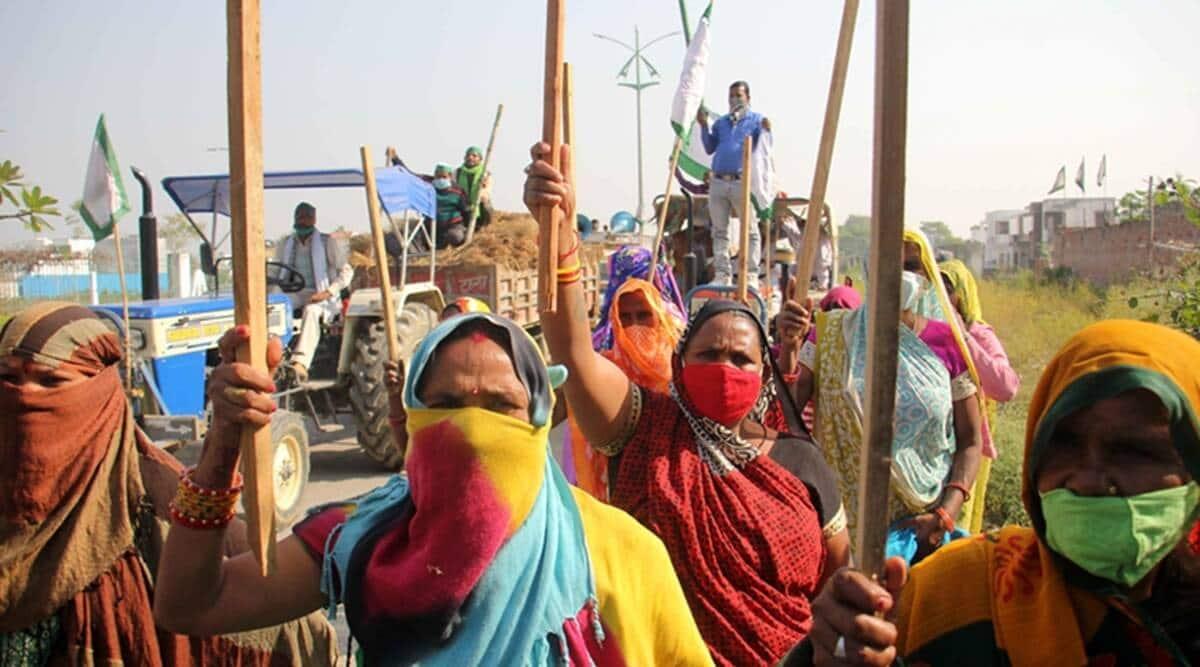 women protesters, Punjab farmers protest, new farm laws, Chandigarh news, Punjab news, Indian epress news