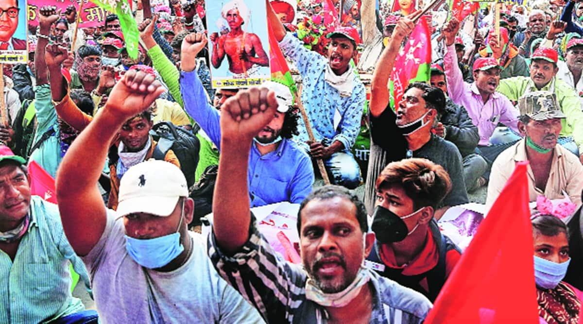 Farmers protest, Nashik farmers, All India Kisan Sabha, Maharashra news, Indian express news