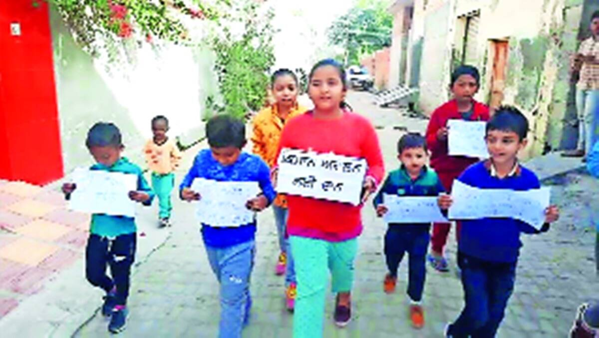 Farmers protest, kids collect funds for farmers, CHandigarh news, Punjab news, Indian express news