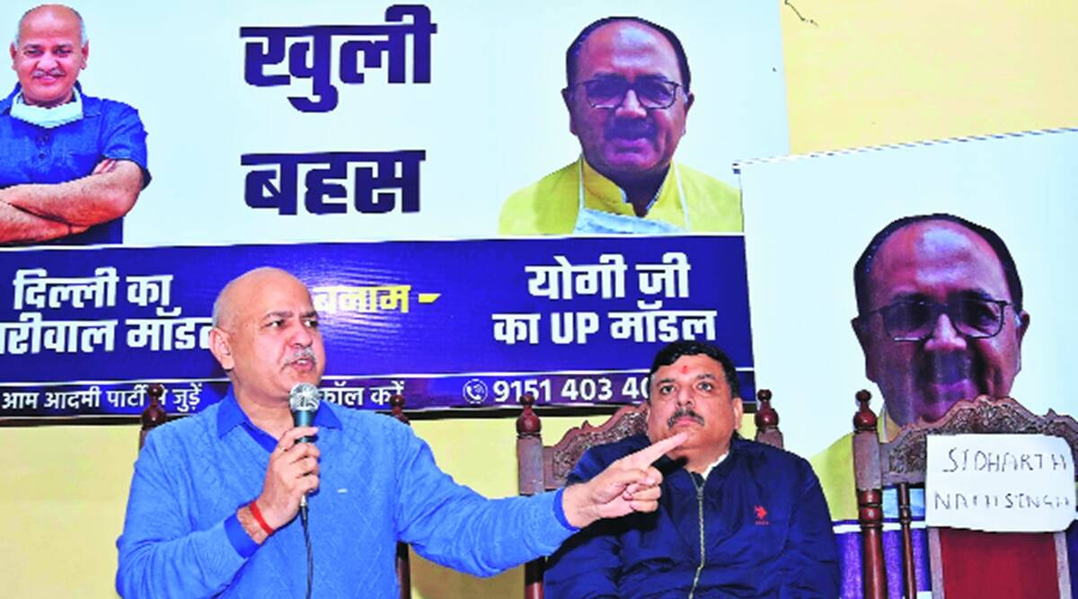 Yogi govt, Manish Sisodia, Sidharth Nath Singh, UP Assembly elections, Yogi Adityanath, Lucknow news, Indian express news