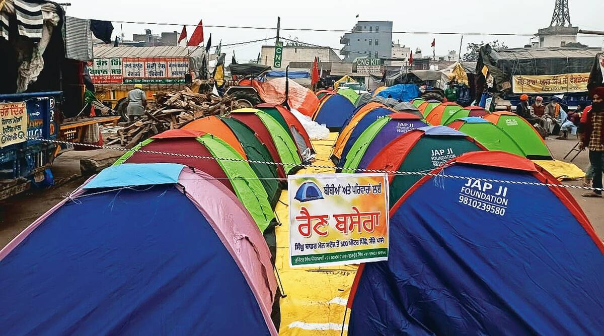 Among sea of protesters at Singhu, women-only tents offer a safe and private space for many