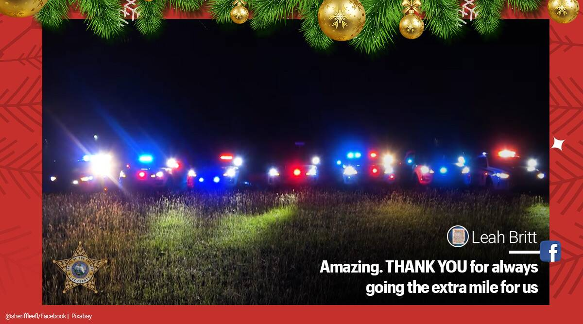 Florida, Police patrol cars, synchronised light and sound show, Christmas 2020, Mad Russian's Christmas, Trans-Siberian Orchestra, Mad Russian's Christmas police patrol car light and should show, Mad Russian's Christmas light show, Lee County Sheriff police patrol car Mad Russian's Christmas, Trending news, Indian Express news,