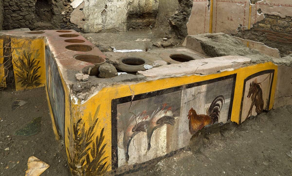 Archaeologists uncover ancient street food shop in Pompeii - The Indian Express