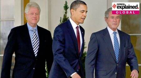 three former US Presidents to take Covid-19 vaccine publicly, george w bush, barack obama, bill clinton, us covid cases, coronavirus vaccine, indian express