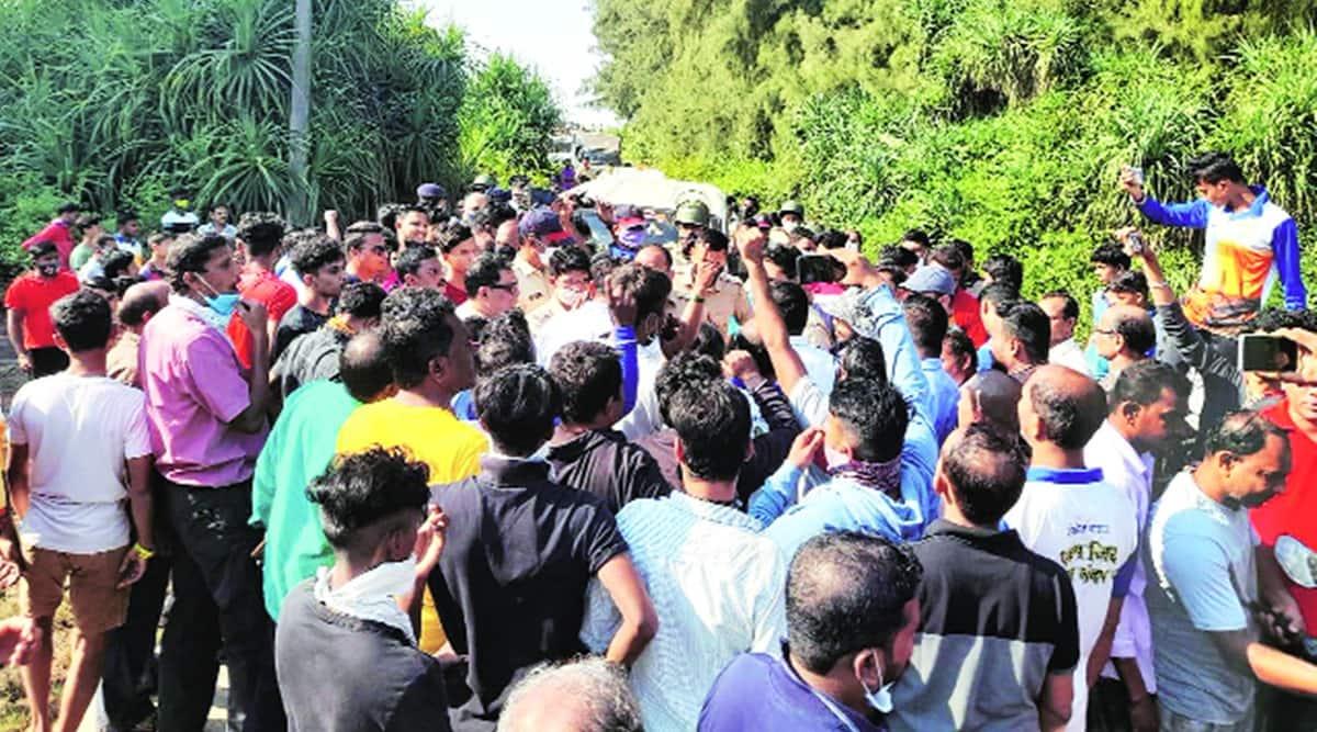 Vadhavan protest, Vadhavan protestors, Vadhavan port protest, maharashtra news, indian express news