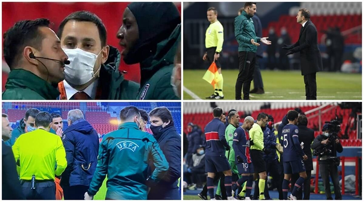 PSG Istanbul Basaksehir Players Walk Off After Alleged