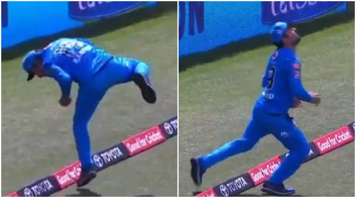 BBL 2020-21: Season 10 'Rashid Khan stuns all with a balancing catch for Adelaide Strikers