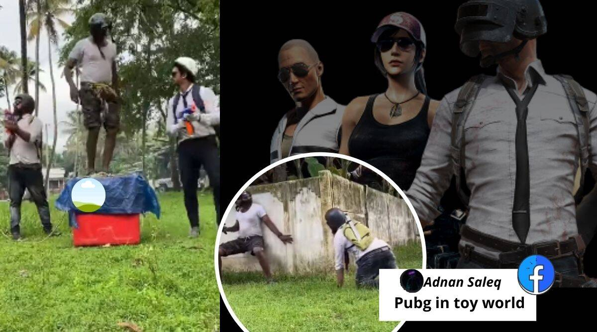 PUBG, PUBG real-life video, game PlayerUnknown's Battlegrounds, PUBG in real-life spoof video, PUBG spoof viral video, Trending news, Indian Express news,