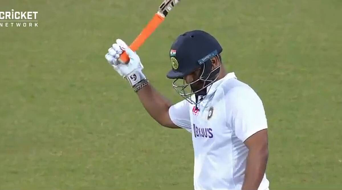 Rishabh Pant slams 22 in last over of play: Races to 100 in 73 balls |  Sports News,The Indian Express