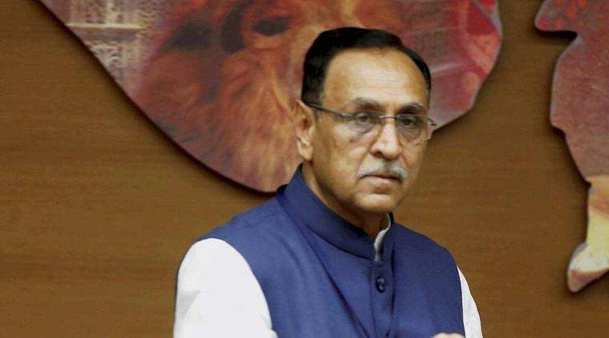 Vijay Rupani, gujarat covid, Gujarat covid vaccination, Gujarat news, indian express news