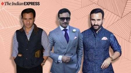 saif ali khan, saif ali khan photos, saif ali khan winter fashion photos, saif ali khan, indian express, indian express news